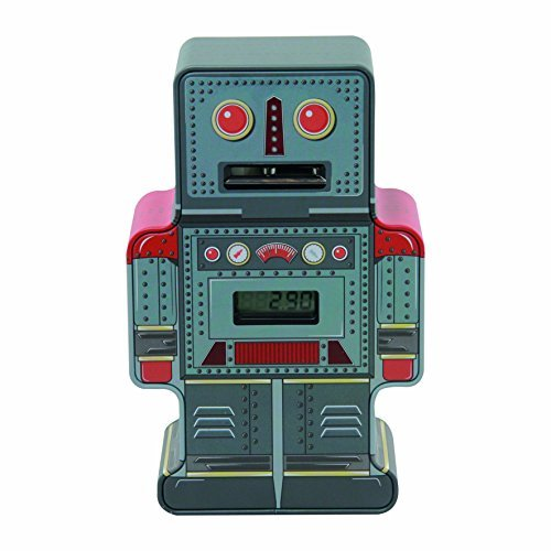 Paladone Tin Robot Counting Money Box by Paladone