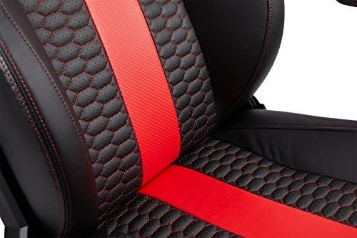 CORSAIR WW T2 ROAD WARRIOR Gaming Chair Comfort Design, Black/Red
