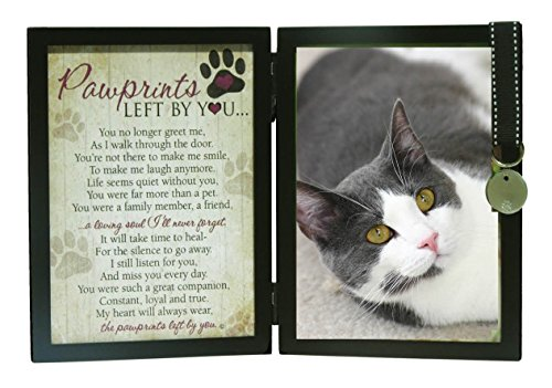 Pawprints Left By You Memorial 5x7 Frame for Cat with Pet...