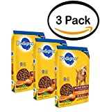 PACK OF 3 - PEDIGREE Active Senior Roasted Chicken, Rice & Vegetable Flavor Dry Dog Food 15 Pounds