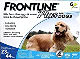 Frontline DFRMDPLUS6 6-Pack 23 to 44-Pound Plus dogs Flea and Tick Treatment, Medium, Blue