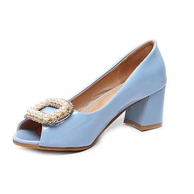 Onewus Damen Dress Pumps mit Blockabsatz Schuhe für Datierung 6gZRU89