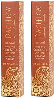 product image for Pacifica Color Quench Coconut Nectar Lip Tint (Pack of 2) with Coconut Oil, Candelilla Wax, Cocoa Seed Butter and Vitamin E, 0.15 oz.