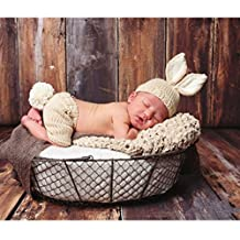 Fashion Cute Newborn Boy Girl Baby Costume Outfits Photography Props Hat Pants
