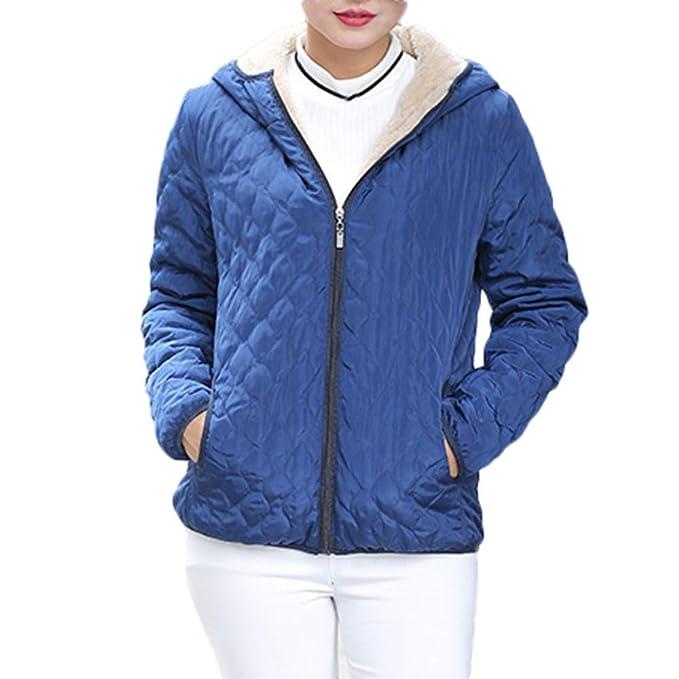 BHYDRY Chaqueta con Capucha de Abrigo cálido para Mujer Chaqueta Delgada de Invierno Outwear Abrigos: Amazon.es: Ropa y accesorios