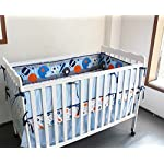 WINLIFE-8-pieces-Baby-Boys-Sports-Series-Crib-Bedding-Set-Blue-Quilts-With-Bumper-Pads-Cotton