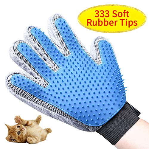 M-pet Pet Grooming Glove, Gentle Deshedding Brush Glove,Efficient Pet Hair Remover Mitt with Enhanced 333 Silicone…