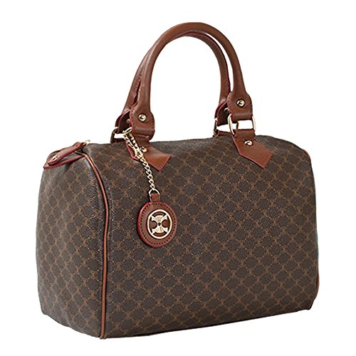 Leather Accents Classic Boston Bag (brown)
