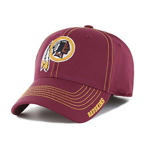 OTS NFL Washington Redskins Adult Start Line Center Stretch Fit Hat, Large/X-Large, Cardinal