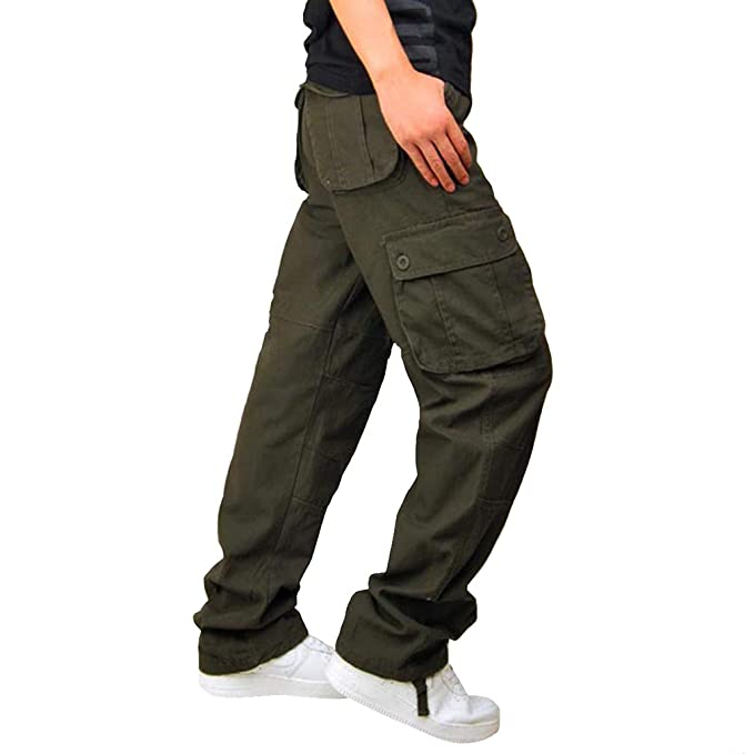 155dd4f9ae0 fuxinhe Mens Camouflage Pants Fashion Multile Pockets Loose Overalls Over  Size Zipper Strechy Cotton Blend Trousers  Amazon.co.uk  Clothing