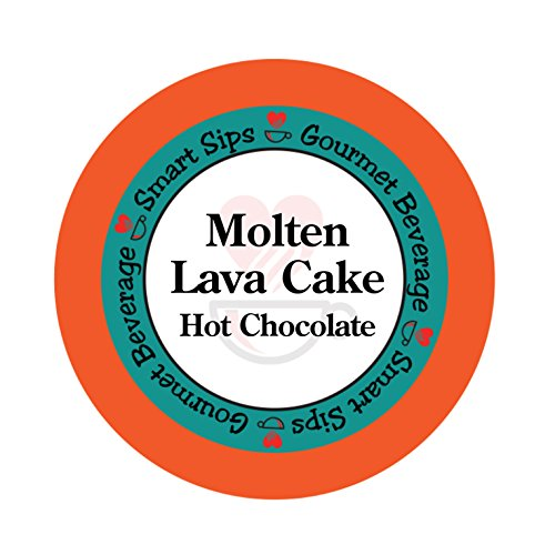 Smart Sips Molten Lava Cake Hot Chocolate, 24 Count, Hot Cocoa Single Serve Cups Compatible With All Keurig Kcup Machines