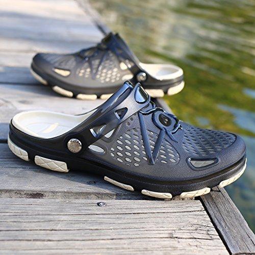 traspirante pantofole uomini acqua spiaggia nero estivi viaggio semi sandali spiaggia in 44 trascinato Il da Baotou giocare scarpe fankou c scarpe da scarpe foro t0USt