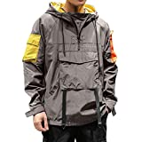 Mens Hooded Waterproof Lightweight Windbreaker