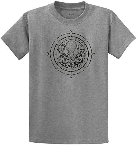 Tee Heavyweight 100% Cotton (Joe's USA Koloa Surf Octopus Logo Heavyweight Cotton T-Shirt-AthHeath/b-2XL)