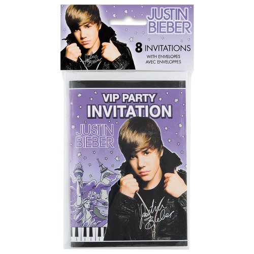 Justin Bieber Invitations, 8ct