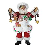 Kurt Adler Fabriche Christmas Chef Santa Figurine, 12-Inch