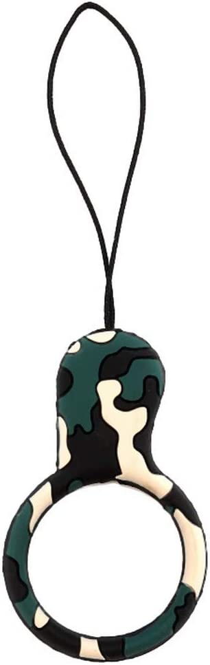 Camouflage Style Silicone Ring Management Organizer for Phone Camera Gopro USB Drives Lanyard Keychain Straps,Champagne Gold
