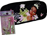 New Princess and the Frog Black Pencil Case and Stationery Set