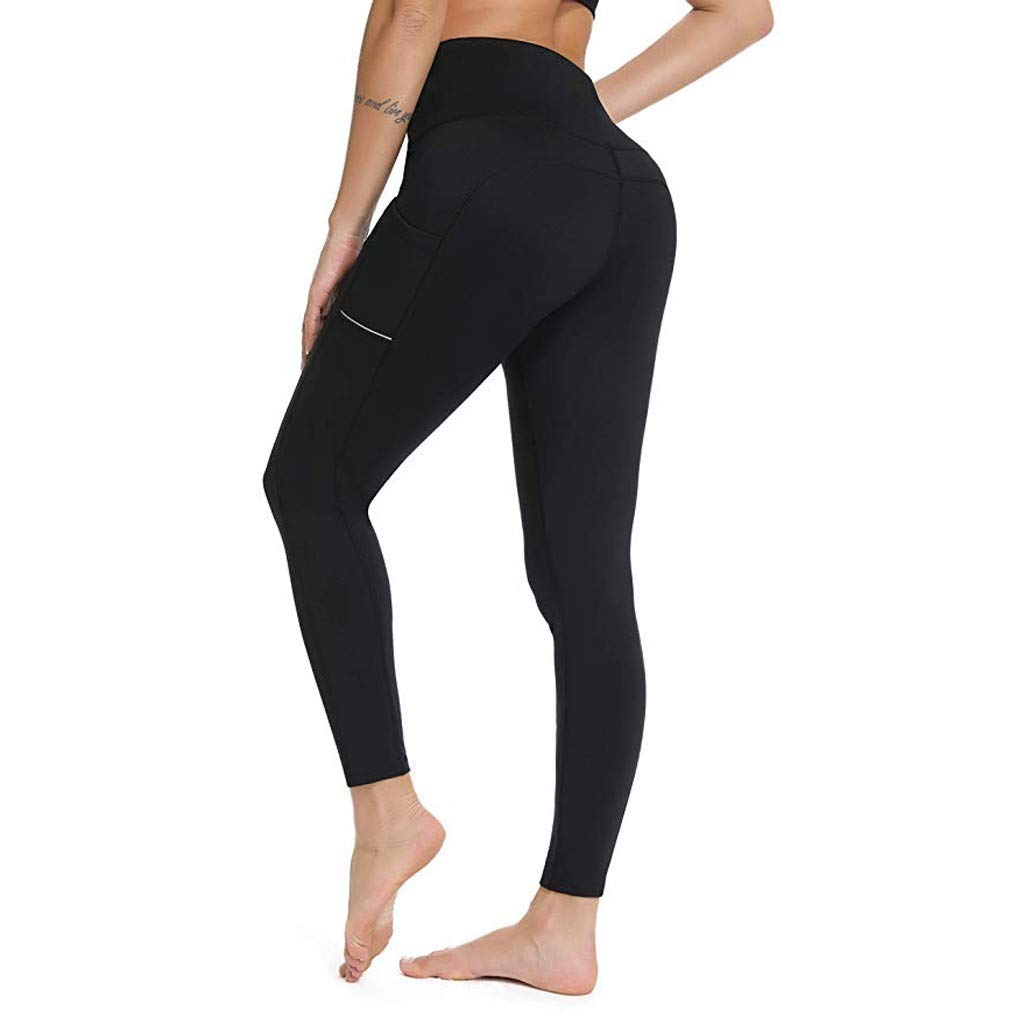 Pantaloni Yoga da Donna, Oyedens Leggins Sportivi Donna Vita Alta Pantaloni Allenamento Palestra Athletic Fitness Esercizio Leggings Atletico Pantaloni Tuta Pilates Jogging Sportivi Tummy Control