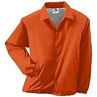 Augusta Sportswear Unisex-Adult Nylon Coach's Chaqueta /Forro, Naranja, Pequeño