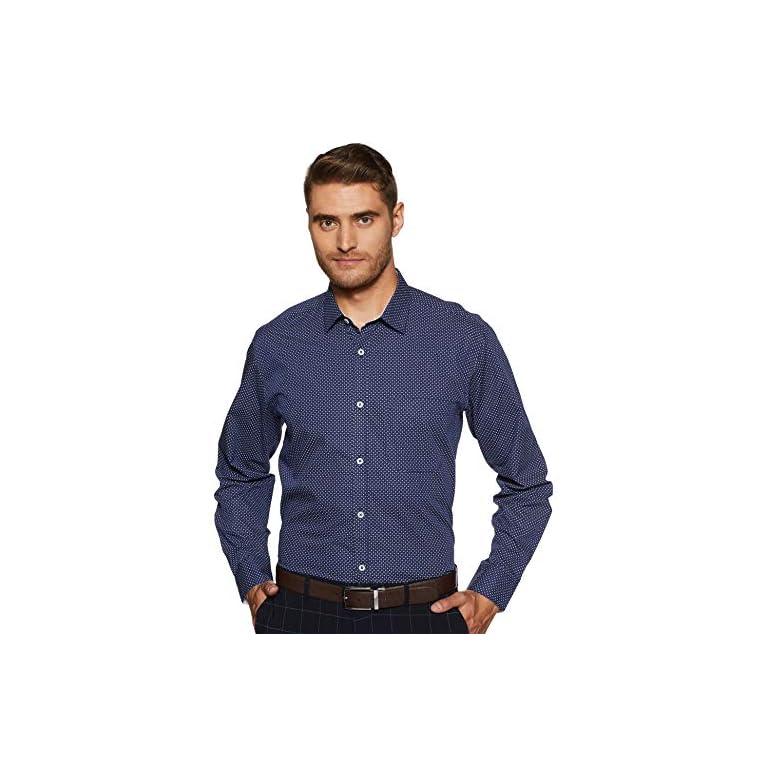 51KEQbhW%2BuL. SS768  - Amazon Brand - Symbol Men's Slim Fit Full Sleeve Cotton Formal Shirt