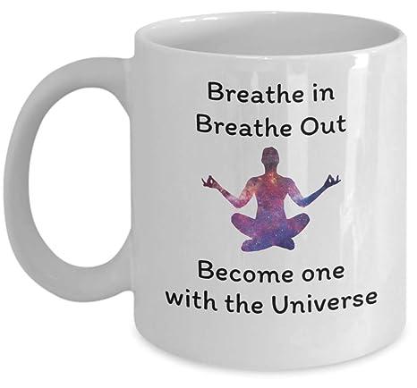 Amazon.com: Taza de café esotérica – Breathe in Breathe Out ...