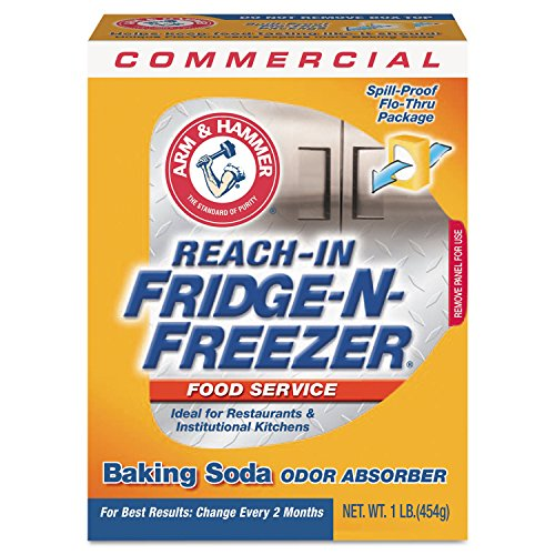 Arm & Hammer CDC 33200-84011 Fridge-N-Freezer Pack Baking Soda, Unscented, Powder, 16 oz. (Pack of 12)