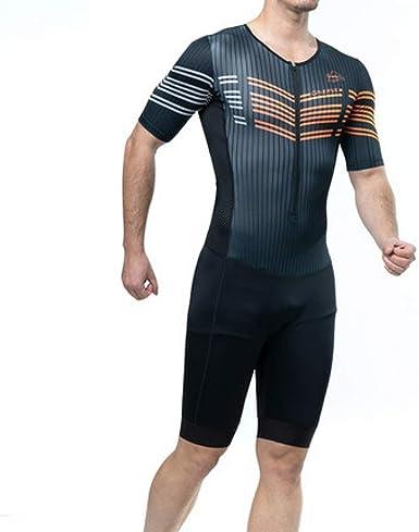 Camisa de compresión Traje siamés Traje Ciclista de Primavera y Verano Traje Importado de Tejido de triatlón de Manga Corta: Amazon.es: Ropa y accesorios