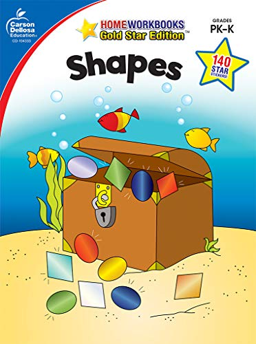 Shapes, Grades PK - K: Gold Star Edition (Home Workbooks)