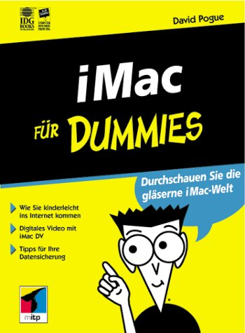 iMac für Dummies Broschiert – 2000 David Pogue iMac für Dummies mitp 3826629299