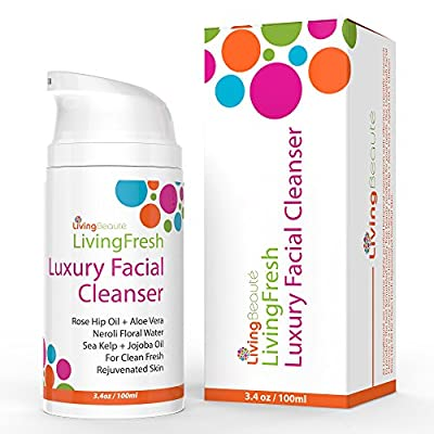 Facial Cleanser Moisturizer Blackhead & Pimple Remover For Men & Women By LivingBeaute – Pure Botanical Ingredients Synthesis – Anti Aging Cleansing Face Care Wash For Oily Dry & Sensitive Skin