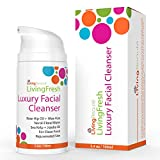 Facial Cleanser Moisturizer Blackhead & Pimple Remover For Men & Women By LivingBeaute - Pure Botanical Ingredients Synthesis - Anti Aging Cleansing Face Care Wash For Oily Dry & Sensitive Skin