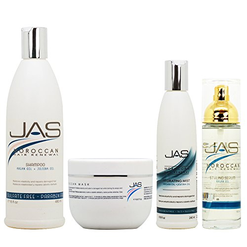 JAS Moroccan Hair Renewal All in 1 Combo (Shampoo+Mask+Mist+Serum)