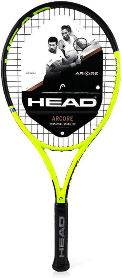 Raqueta de Tenis Head Raquetas de pádel de Carbono Compuesto Profesional Mango de absorción de Impactos con Bolsa de Cuerda para Hombres Mujeres Principiantes