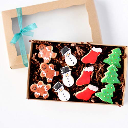 (1 Dz. Mini Christmas Gift Boxed Cookies! Perfect Stocking Stuffer or Office Treats! Christmas Birthday Themed Party Favors or Gift!)
