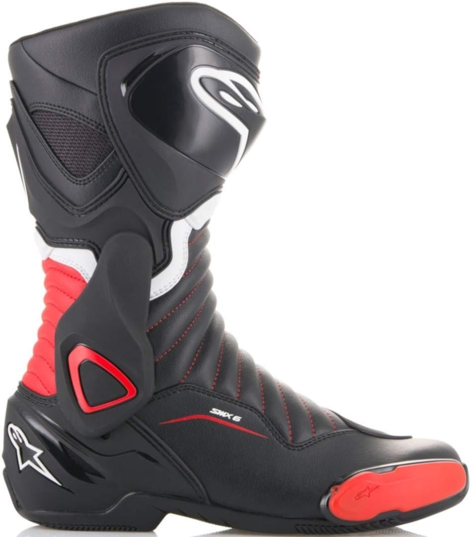 44 Noir//Rouge Bottes Moto Alpinestars SMX-6 V2 Black Red