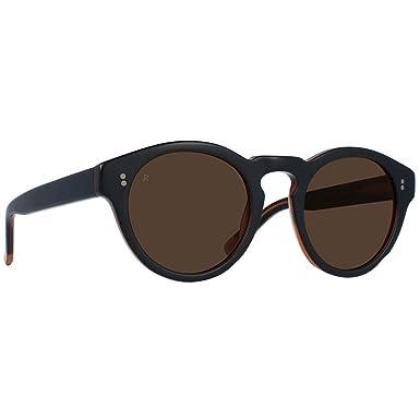 eab4af53732c Amazon.com: RAEN Optics Unisex Parkhurst 49 Black/Tan Brown One Size:  Clothing