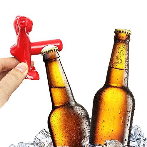 Wine bottle opener and stopper set funny man nov - Funny wine openers ...