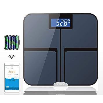 QMKJ Báscula de baño Inteligente balanza de precisión Cuerpo de Grasa Digital Peso del Cuerpo de