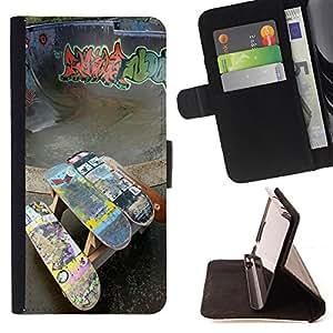 Dragon Case- Caja de la carpeta del caso en folio de cuero del tir¨®n de la cubierta protectora Shell FOR Samsung Galaxy G360 G3608 G3606- Skateboard HipPop Man Funny