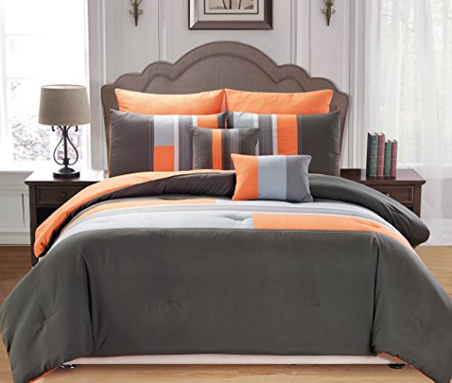 Duck River Textile Desiree Comforter Set, Queen, Orange