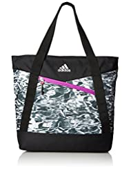 adidas Squad III Tote Bag, One Size, Ponder/Black/Shock Purpl...