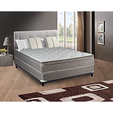 Continental Body Rest Collection 10 Pillowtop Orthopedic Mattress And Box Spring Set Fully Assembelled Luxurious Euro Top With Optimal Back Support Premium 396 Coil Innerspring Queen