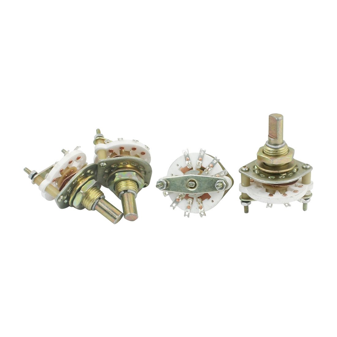 uxcell 4Pcs 2P3T 2 Pole 3 Position Single Deck Band Channael Rotary Switches