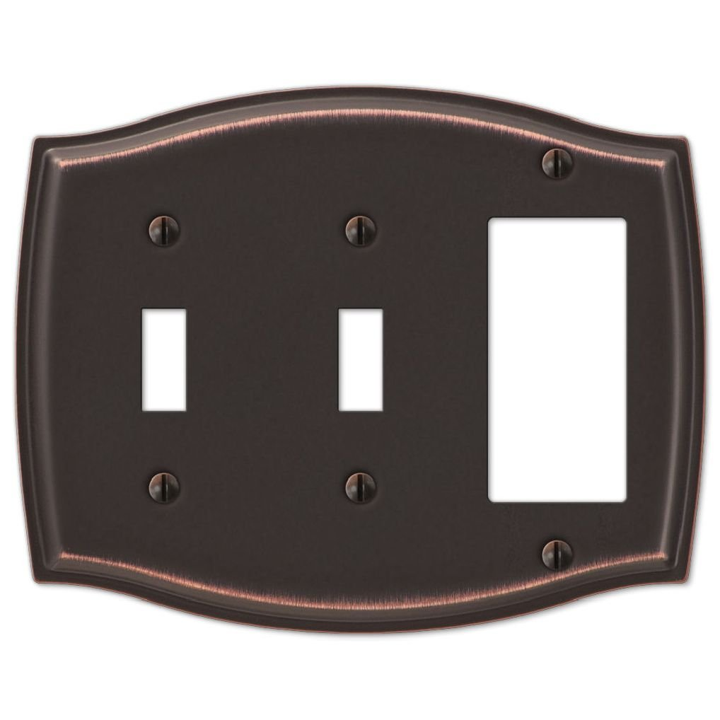 Switch Plate Outlet Cover Rocker Toggle Light Wall Plate - Oil Rubbed Bronze by Dorigan Home Service