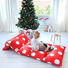 GIRL'S FLOOR LOUNGER SEATS COVER AND PILLOW COVER MADE OF SUPER SOFT, LUXURIOUS PREMIUM PLUSH FABRIC – PERFECT READING AND WATCHING TV CUSHION – GREAT FOR SLEEPOVERS AND SLUMBER PARTIES