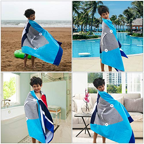 Wowelife Baby Bath Towels for Bath, Pool and Beach 100% Cotton 30 x 63 inch Extended Length for Both Children and Adults(Happy Jaw) by Wowelife (Image #2)