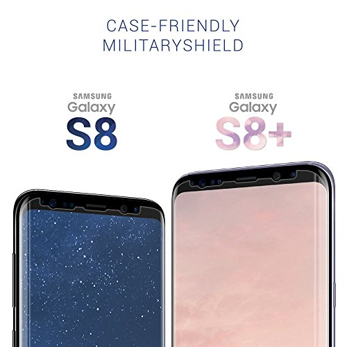 ArmorSuit - Galaxy S8 MilitaryShield Repuestos de por vida [Case Friendly] Protector de pantalla para Samsung Galaxy S8