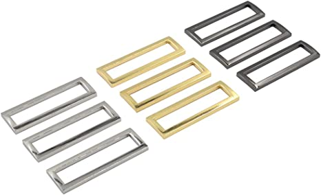 "50mm 2/"" heavy duty Wire OVAL LOOP Ring Nickel Handbag webbing Belt strap"
