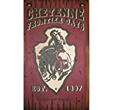 Cowboy Signs Wood Wall Hanging Cheyenne Frontier Days Burgundy 811